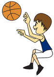 Boy shooting basketball Stock Images