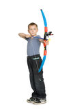 Boy shooting a bow Stock Photos