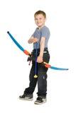 Boy shooting a bow Stock Photos