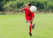Boy Shooting at Goal. Little Boy Shooting at Goal stock photo