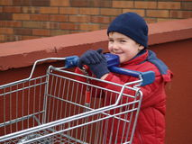 Boy shopping Royalty Free Stock Images
