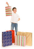 Boy with shopping bag Royalty Free Stock Image