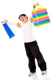 Boy with shopping bags Stock Photo