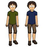 Boy in shorts illustration Stock Photography