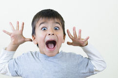 Boy Shouting. Little boy shouting and gesturing Royalty Free Stock Photography