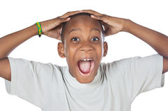 Boy shouting madly Stock Image