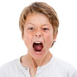 Boy shouting out loud. Stock Image