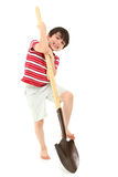 Boy with Shovel stock photo