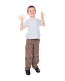 Boy show big size Royalty Free Stock Image
