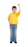 Boy show finger up Royalty Free Stock Photography