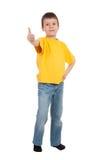 Boy show finger Stock Image