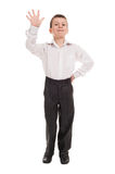 Boy show five finger Royalty Free Stock Photo