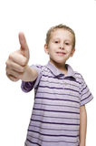 Boy show the thumb up Royalty Free Stock Photography