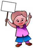 Boy showing blank sign Stock Image