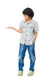 Boy showing empty hand Stock Photo