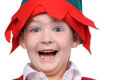 Boy showing excitement Stock Images