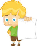 Boy Showing His Test Paper Result Stock Photography
