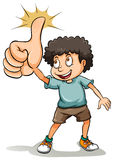 A boy showing his thumb Stock Image