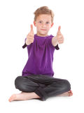 Boy showing ok sign Royalty Free Stock Photography