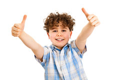 Boy showing OK sign Royalty Free Stock Images