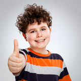 Boy showing OK sign Royalty Free Stock Photo