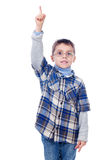 Boy showing one finger Royalty Free Stock Photography