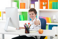 Boy showing thumb up Royalty Free Stock Photography
