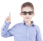 Boy showing up Royalty Free Stock Image