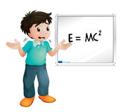 Boy showing white board Stock Photography