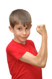 The boy shows emotion gestures Royalty Free Stock Images