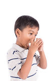 Boy sick Stock Images