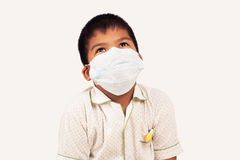 Boy sick wear mask Royalty Free Stock Images