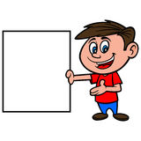 Boy with Sign Royalty Free Stock Photos