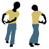 Boy silhouette in Carrying Pose Royalty Free Stock Image