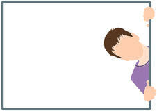 Boy silhouette in frame Royalty Free Stock Images