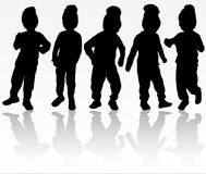 Boy silhouette Royalty Free Stock Images