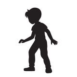 Boy silhouette vector. Royalty Free Stock Images
