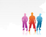 Boy silhouettes Royalty Free Stock Image