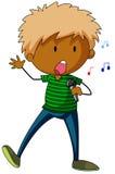 Boy singing Royalty Free Stock Photos