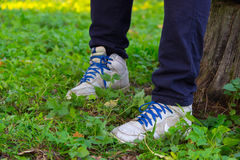 9a97a5bc6c Dangling Boys School Shoes stock image. Image of cute - 38456311
