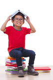 Boy sit and holding Royalty Free Stock Photography