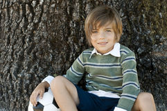 Boy sitting Stock Photo