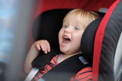 Boy sitting in car seat Royalty Free Stock Photo