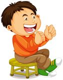 A boy sitting on the chair. Illustration stock illustration