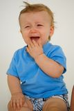 Boy Sitting and Crying Royalty Free Stock Photo