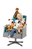 Boy Sitting with Toys Royalty Free Stock Images