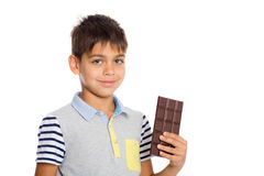 Boy of six years from a chocolate Stock Photography