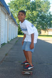 Boy On Skate Board. A picture of a young boy on skate board Royalty Free Stock Images
