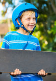Boy with Skate Board Stock Image
