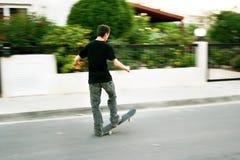 Boy on skateboard Stock Photo